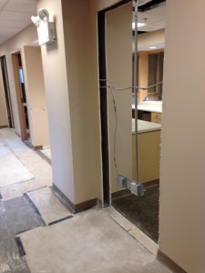 2015-04-20c WHCMA Renovation 1st floor - new reception door opening