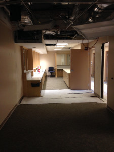 2015-04-20d WHCMA Renovation - Reception from future exam room